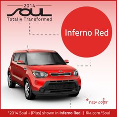 2014 Kia Soul. New Color. Inferno Red.This is our  new car