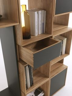 Freedom is an open TV wall system by Riva 1920 #storage #media #shelving…