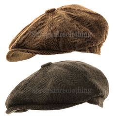 634a04d484317 Details about Mens Herringbone Baker Boy Caps Newsboy Hat Country Peaky  Blinder Style Flat Cap