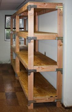 Build overhead garage storage and DIY garage storage bench.Build overhead garage storage and DIY garage storage bench. Build a 2 × 4 overhead Shelves, Diy Garage, Bookshelves Diy, Diy Storage, Diy Shelves, Upcycled Furniture Diy, Diy Storage Shelves, Garage Storage Shelves, Shelving