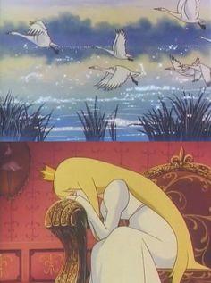 pollinisation: Odette Hakuchô no mizûmi (Swan Lake) Kimio Yabuki Gothic Anime, Anime Fantasy, Dark Fantasy Art, Time Cartoon, Cartoon Gifs, Disney Animated Movies, Old Anime, Anime Eyes, Swan Lake