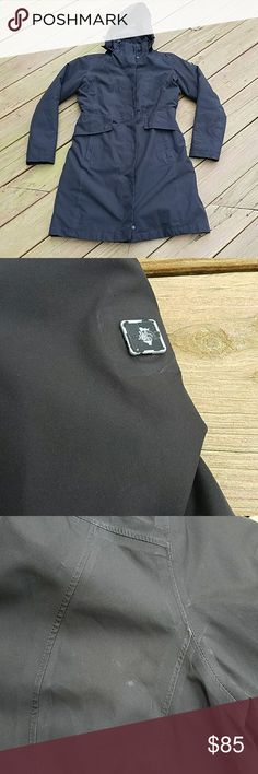 The North Face size M hyvent coat The North Face size M black hyvent coat. Contains inside liner. Jacket contains some staining as shown. The North Face Jackets & Coats