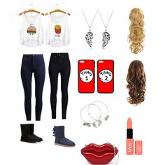Best Friends by benue on Polyvore featuring polyvore fashion style Rodarte UGG Australia Bling Jewelry Alex and Ani NYX
