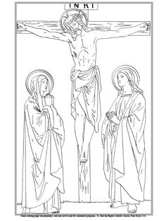 twelfth station of the cross coloring page - Catholic Coloring Pages Easter