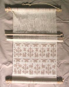 A small, sample loom from the Huave community of San Mateo del Mar, Oaxaca.