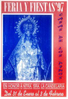 Feria y fiestas en Casas de los Pinos (Cuenca), en honor a la Virgen de la Candelaria. Del 31 de enero al 3 de febrero de 1997. #Fiestaspopulares #CasasdelosPinos #Cuenca