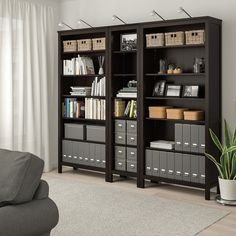 HEMNES Bookcase - black-brown - IKEA