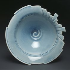 A very unusual pottery bowl by Oregon Potters, photo by Linda Heisserman on Flickr.  Color is awesome.  Design is weird.