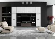 ideas modern living room entertainment center with black wall units