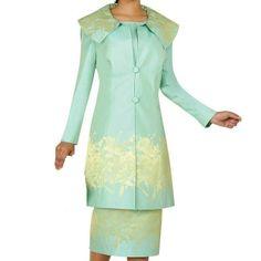 NEW Nubiano New York GREEN/ 8/ Portrait Collar Long Jacket Sleeveless Dress