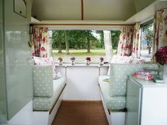 Vintage Camper Interiors | Now for the inside. What do you think?