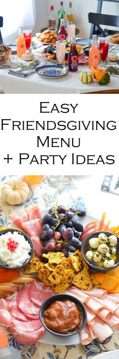 Easy Friendsgiving Ideas + Party Menu w. @izzeofficial #ad #friendsday #friendsgiving #charctuerie #entertaining #hostess #meatplatter #cheeseplatter #hosting #foodideas #foodbloggers