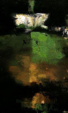 Yannis Stavrou, Nocturnal (detail), oil on camvas