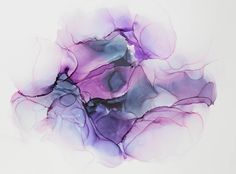 Alcohol Ink Modern Abstract in Purple--Abstract Painting, Modern Art, Abstract Art, Contemporary Art