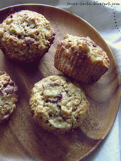 teraz-tarta.blogspot.com: Muffiny z czekoladą i bananami