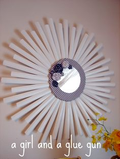mini blind starburst mirror