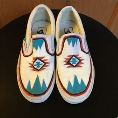 Shop Women's Vans White Blue size Sneakers at a discounted price at Poshmark. Description: Vans White Painted Slip On Sneakers Size Sold by suewitt. Vans Slip On, Slip On Sneakers, Slip On Shoes, Painted Vans, Painted Shoes, Vans Shoes Fashion, Cowboy Outfits, Country Outfits, Custom Vans Shoes