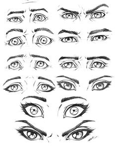Eye Expressions Male and Female by robertmarzullo.deviantart.com on @DeviantArt