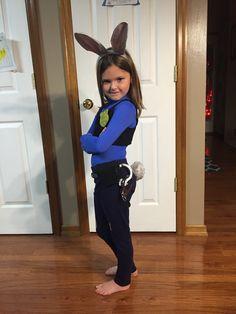 Dance Costumes Kids, Family Halloween Costumes, Cute Costumes, Halloween Kids, Halloween 2017, Costume Ideas, Bunny Costume Kids, Rabbit Costume, Judy Hops Costume