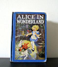 Alice In Wonderland Vintage Book Through the by LiteraryShop