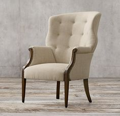 Edwardian Upholstered Wing Chair