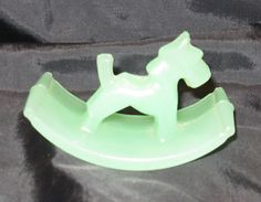 jadeite depression glass | DEPRESSION-GLASS-ROCKER-ROCKING-INK-BLOTTER-JADEITE-JADITE-SCOTTIE ...