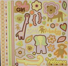 Best Creation Inc. Safari Girl Glitter Cardstock Stickers Sheet is available at Scrapbookfare.com.