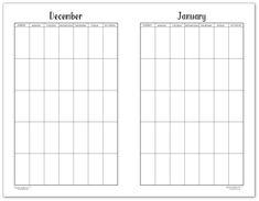 Black and White, Half-size calendar