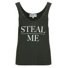 Wildfox Couture STEAL ME Glow Top Wildfox Couture black STEAL ME tank. Letters glow in the dark! Size XS. Super soft worn once. Wildfox Tops Tank Tops