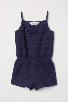 03945e409dd0 H M Lace Jumpsuit - Dark blue - Kids