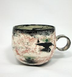 Earthenware cup 2. - by olia lamar