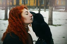 Me and my common raven, Kralya: Heart to heart by whitecrow-soul on deviantART