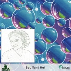 Limited Edition: Green Scrubs - Bouffant Hat - Bubbles