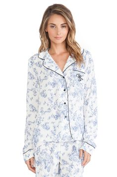 Wildfox Couture Classic PJ Set in English Toile | REVOLVE
