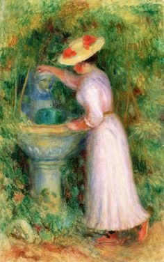 The Athenaeum - Young Girl by a Fountain (Pierre Auguste Renoir - )