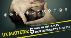 Usuários de aplicativos móveis UX Influences.