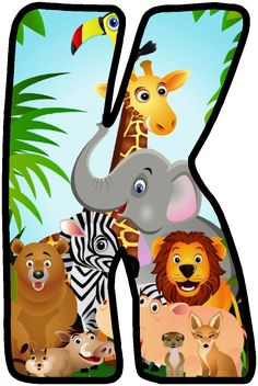 Letras infantiles Letras B abies, Fancy letters and Jungle Theme Classroom, Jungle Theme Birthday, First Birthday Party Themes, Jungle Party, Safari Party, Safari Theme, Deco Jungle, Jungle Safari, Jungle Animals