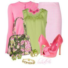 Pink and Green. Ok, you AKA's! Skee Wee
