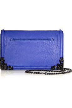 McQ Alexander McQueen Simple Fold textured-leather shoulder bag | NET-A-PORTER 2370