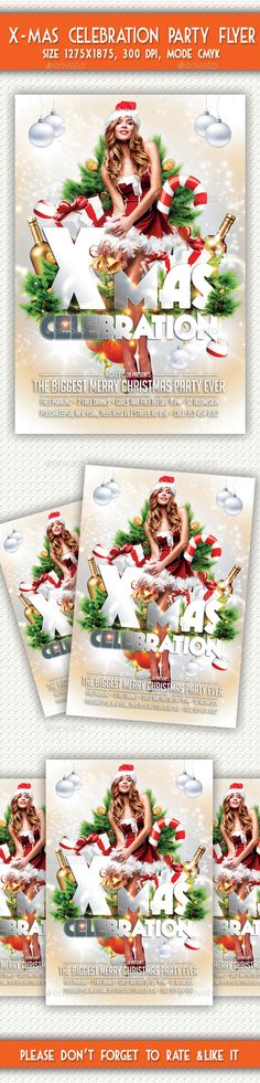 Merry Christmas Flyer  Christmas Flyer Flyer Template And Flyer Size
