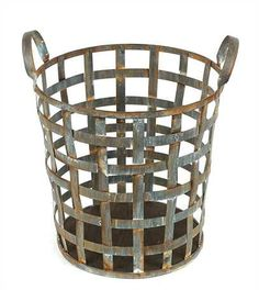 Distressed Metal Basket