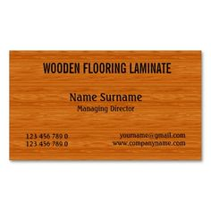 323 best carpenter business cards images on pinterest in 2018 wooden hard wood flooring personalize business card wajeb Gallery