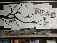 Winter bulletin board for Mary Purcell Library. Add, the best gift you can give yourself.