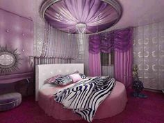 purple and a circle bed. it's all I ever wanted as a child. Things haven't changed much.