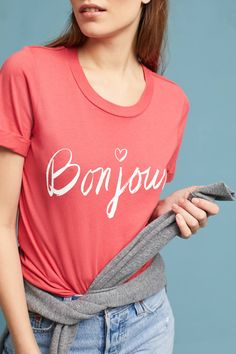 41b359cac Shop the Sol Angeles Francais Tee and more Anthropologie at Anthropologie  today. Read customer reviews