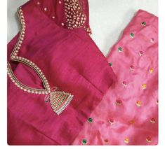 Pinhole back design Pattu Saree Blouse Designs, Simple Blouse Designs, Stylish Blouse Design, Fancy Blouse Designs, Blouse Neck Designs, Sari Blouse, Saree Blouse Patterns, Sari Design, Design Page