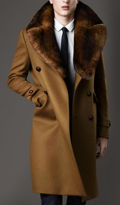 Tinie Tempah wears Burberry Fur Collar Coat and Mr. Hare Double Strap and Buckle Monk Shoes | UpscaleHype