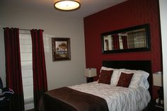 Bedroom ideas on pinterest red accent walls bedroom red - Bedroom with red accent wall ...