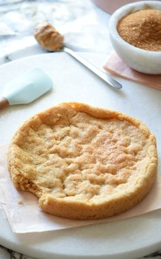 HUGE Single Serving Peanut Butter Cookie! SO easy and fast to bake that I make it all the time! | For the Recipe Click Now carmelapop.com
