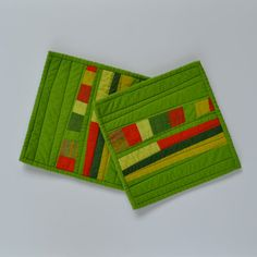 Modern Pot Holders Green Pot Holders Quilted Hot by TwiggyandOpal,